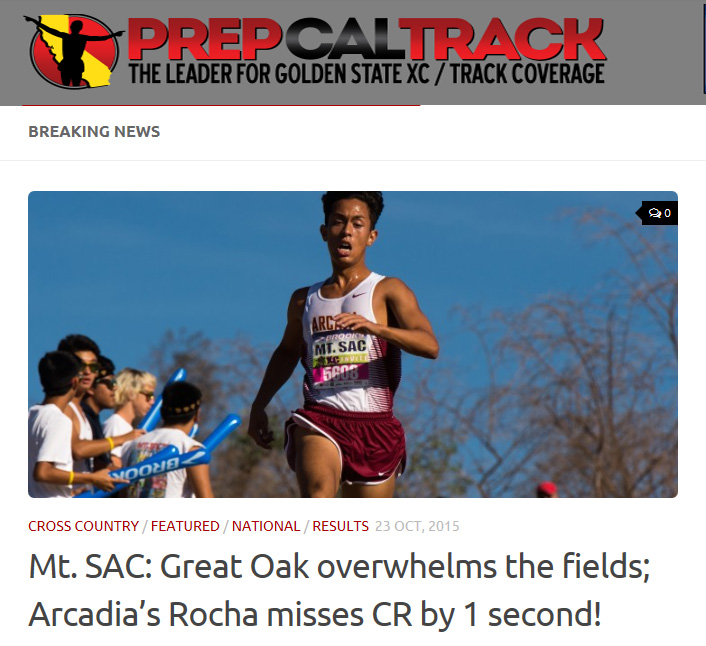 2015-10-24 - PrepCalTrack Article for Mt SAC Invite