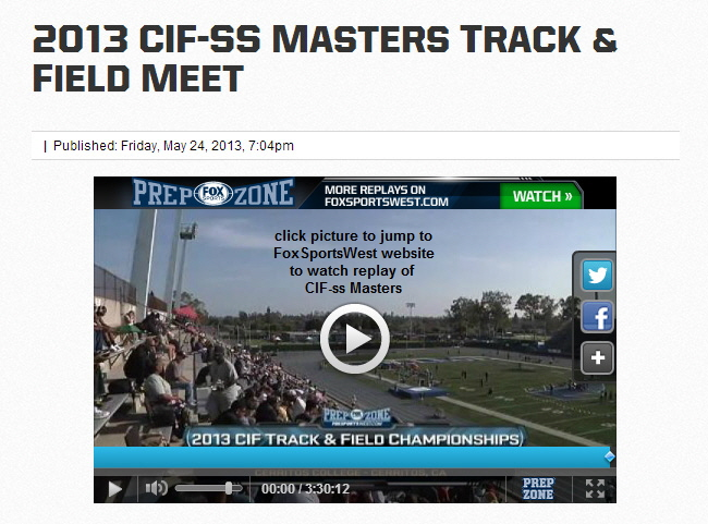 2013-05-25 - Icon - Video replay of CIF-ss Masters