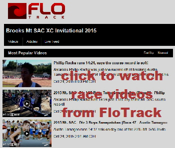 2015-10-24 - URL for FloTrack - FloTrack videos for Mt SAC Invite